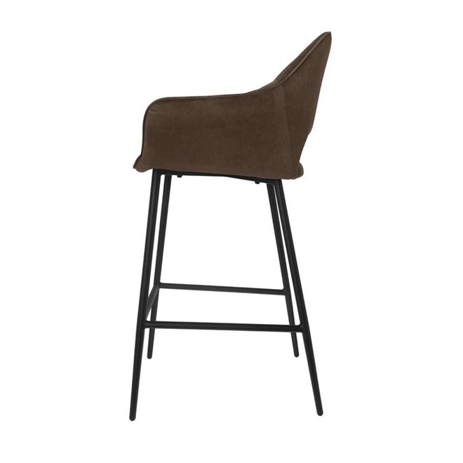 Chaise de bar Eve taupe