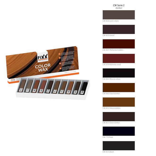 Dunkle Holzfarben - weiches Reparaturwachs