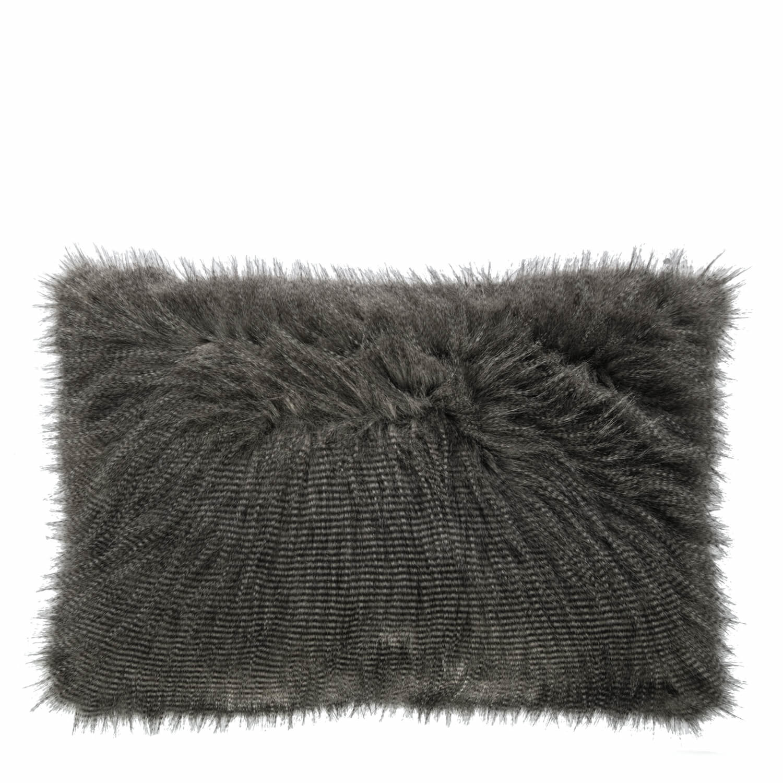 Kussen Furry grijs 50x70cm