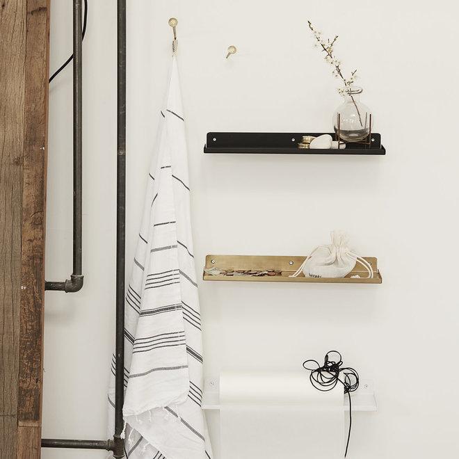 Wall shelf Ledge black 43cm