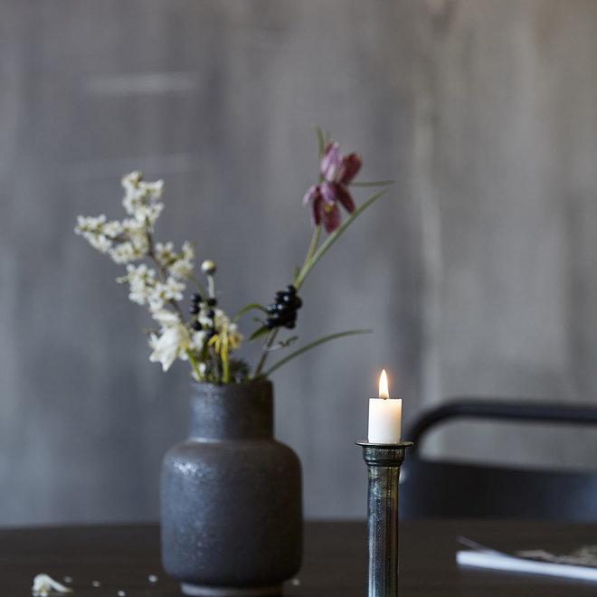 Antique metal candlestick - 14cm