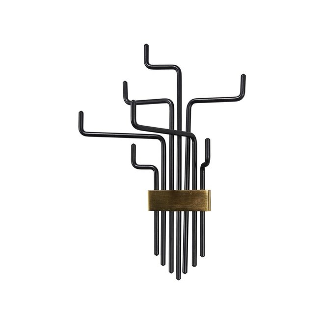 Coat rack pipes black