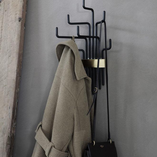 Porte-manteau tuyaux noir