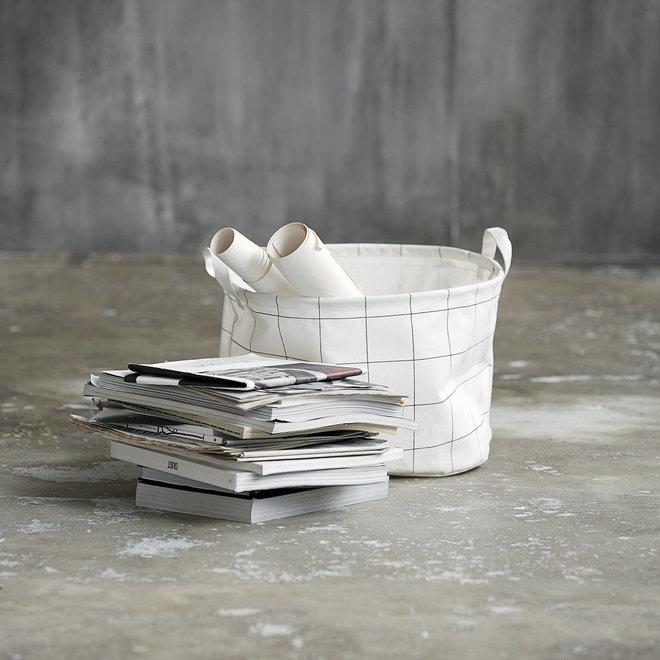 Korbquadrate weiß schwarz 25cm