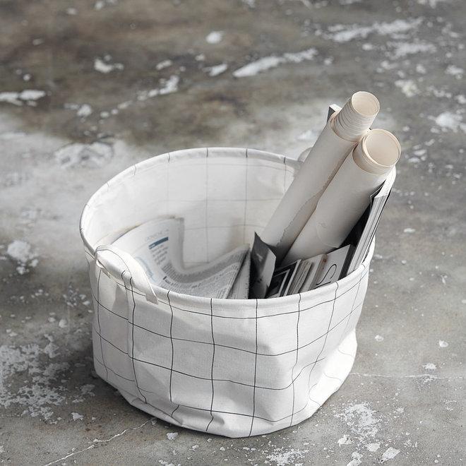 Basket Squares white black 25cm