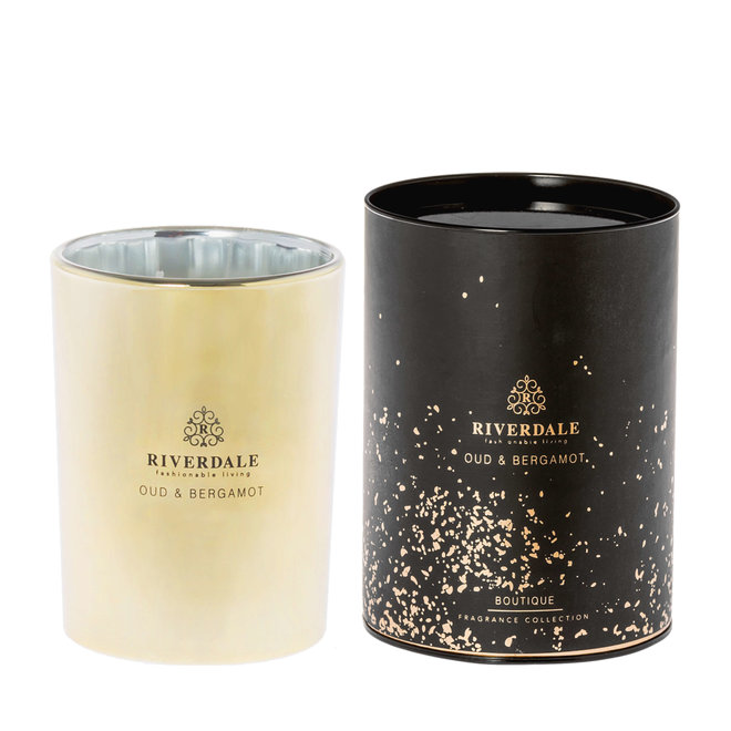 Bougie parfumée Boutique or 15cm