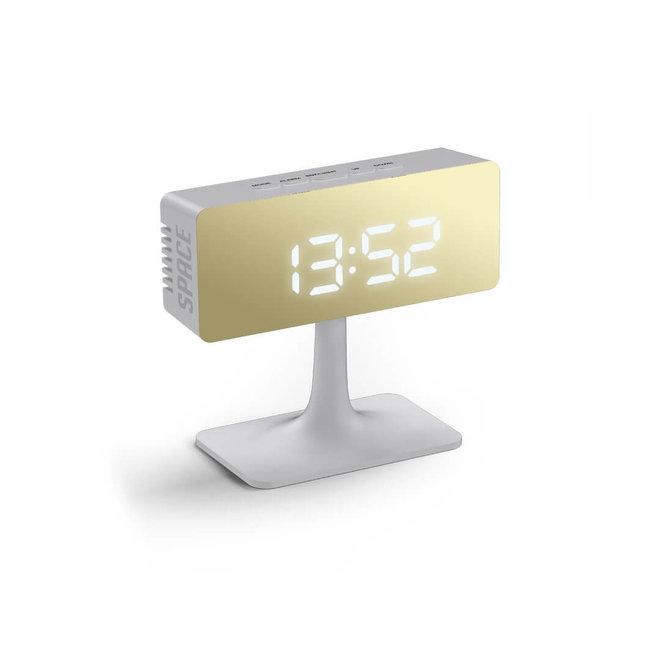Cinemascape alarm clock white