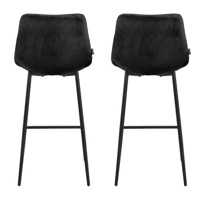 Bar chair Lynn black - set of 2