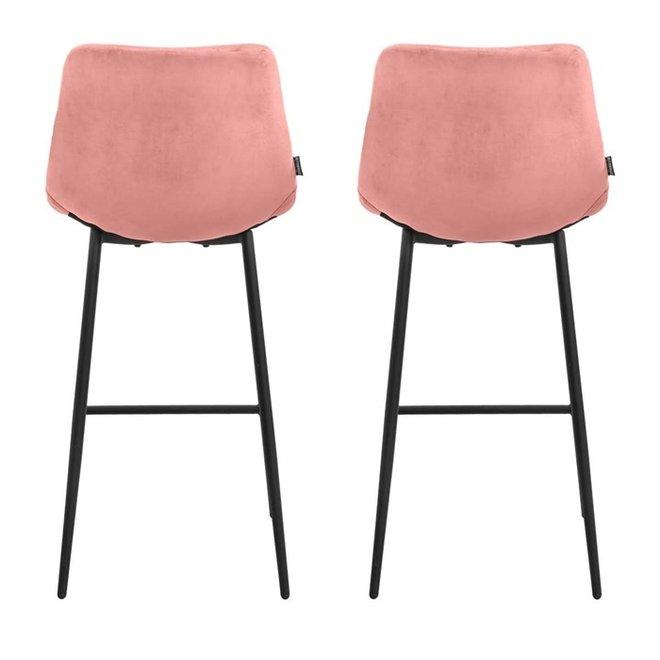 Bar chair Lynn pink - set of 2