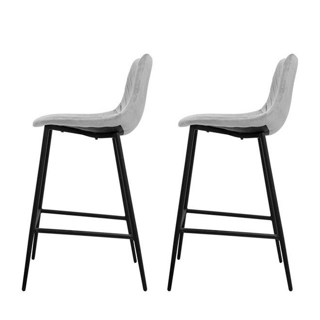Bar chair Lynn gray - set of 2