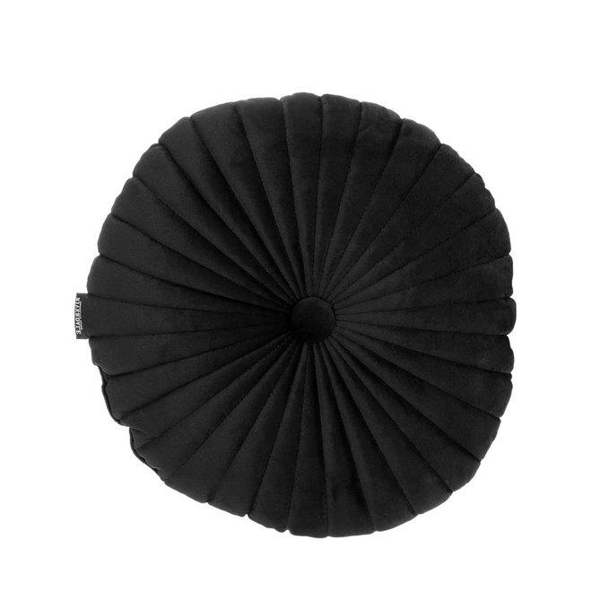 Kussen Emmy zwart rond 40cm