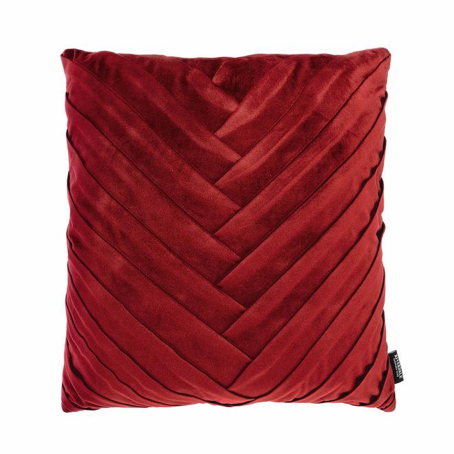 Kussen Emmy burgundy 45x45cm