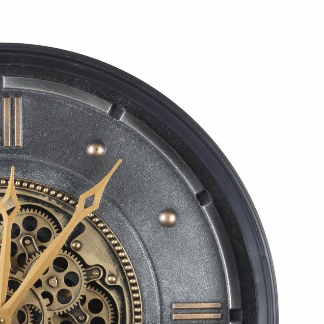 Gears wandklok gold 4 cijfers 60cm