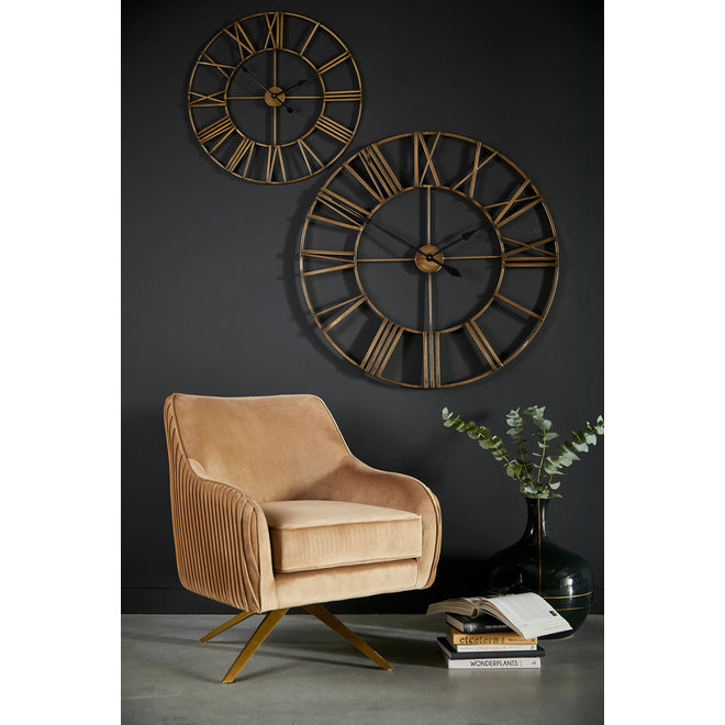 Wall clock Wales gold 102cm