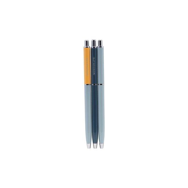 Pen met zwarte inkt Ball Blauw