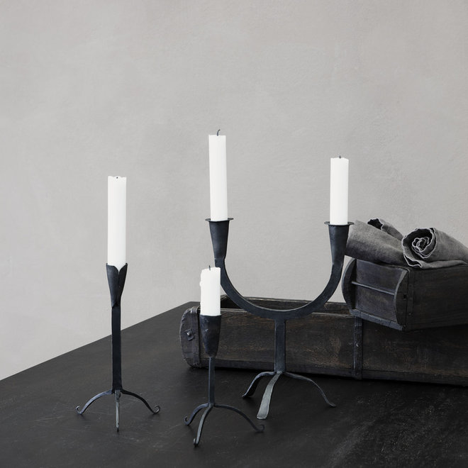 Candle holder Farm double matt iron