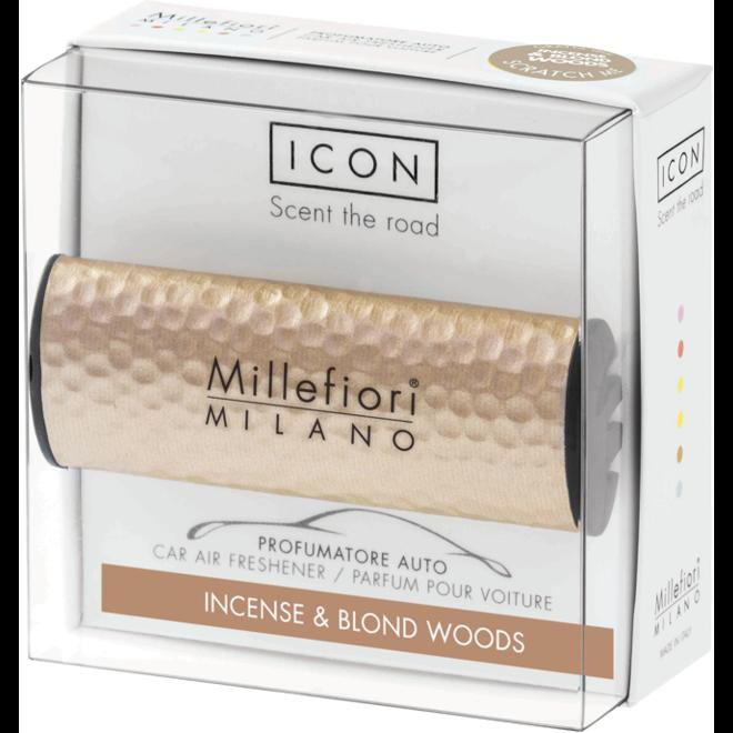 Icon car 41 Incense en Blond woods - Hammered Metal  autoparfum