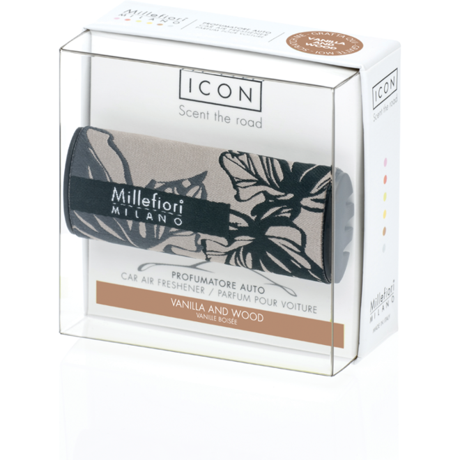 Icon car 73 Vanilla en Wood - Textile Floral autoparfum