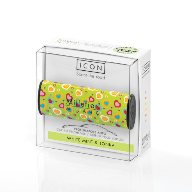 Icon car 08 White mint and Tonka - Cuori E Fiori