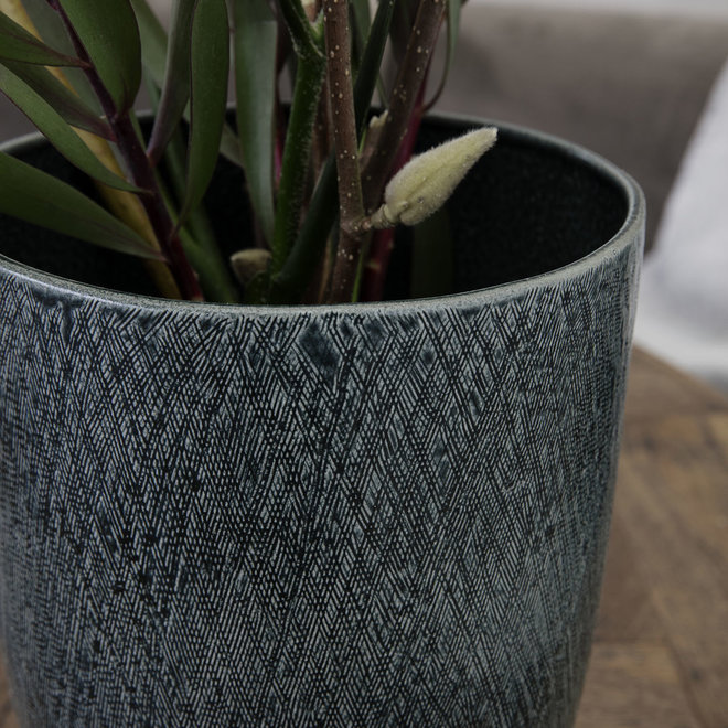 Vase / flowerpot Anil blue 23cm