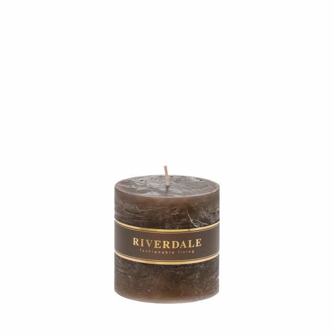 Candle Pillar mocha 9x9cm