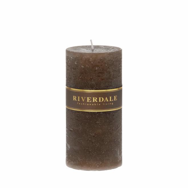 Candle Pillar mocha 10x15cm