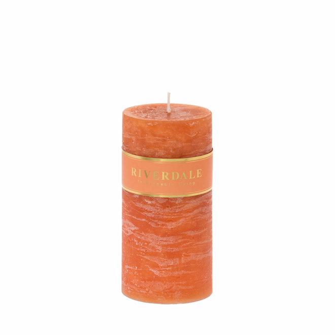 Kerzensäule gebrannt orange 7x14cm