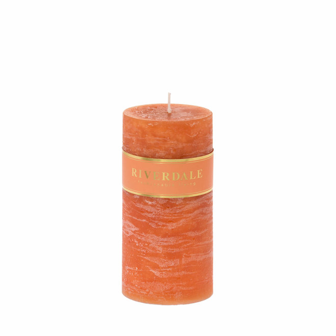 Candle Pillar burnt orange 7x14cm