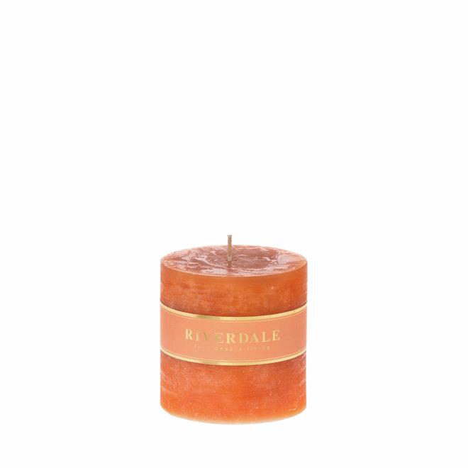 Kaars Pillar burnt orange 9x9cm