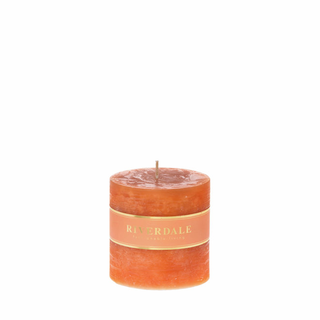 Kerzensäule gebrannt orange 9x9cm