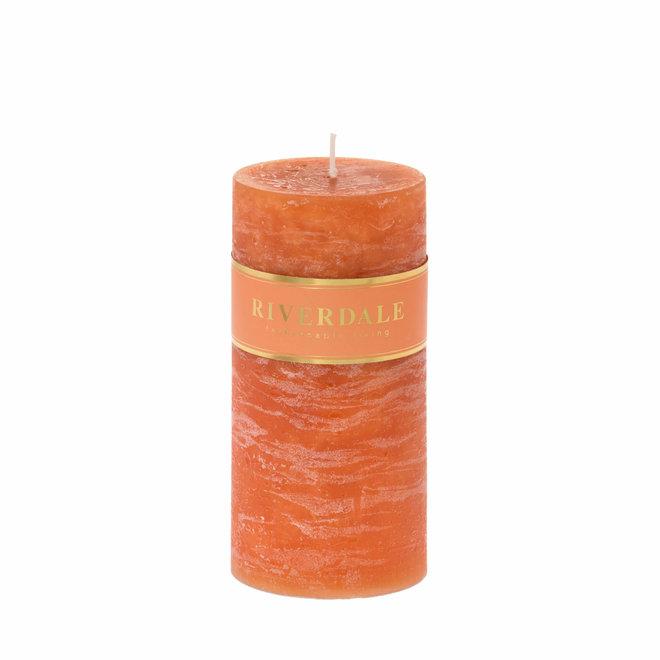 Kaars Pillar burnt orange 10x15cm