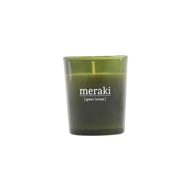 Duftkerze Grün Kräutergrün