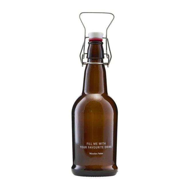 Fles met beugelsluiting bruin