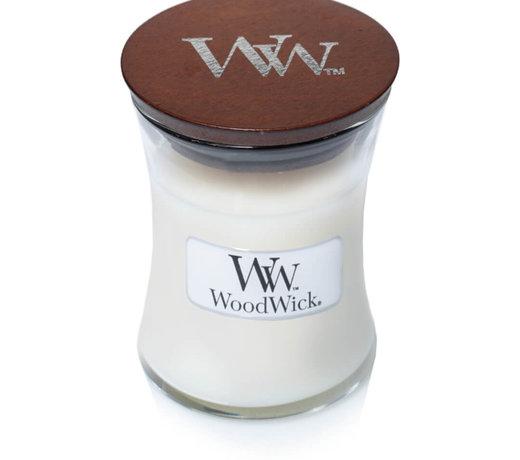 Woodwick White Tea & Jasmine kaarsen