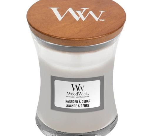 Woodwick Lavender en Cedar kaarsen