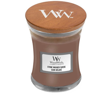 Woodwick Stone Washed Suede kaarsen