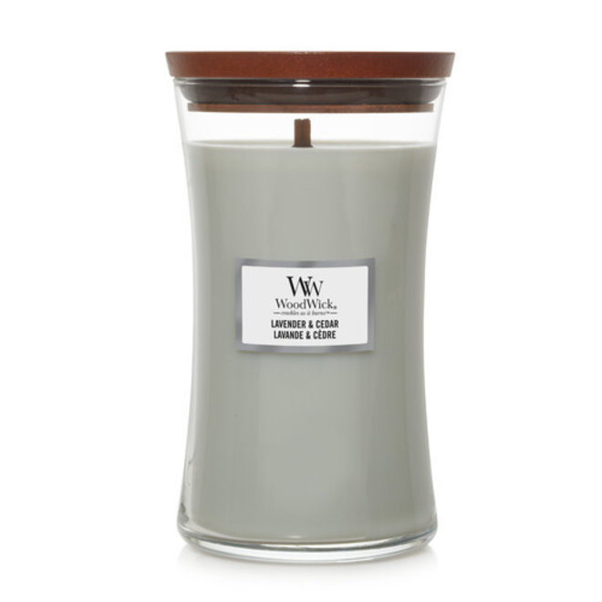 Lavender and Cedar candle large