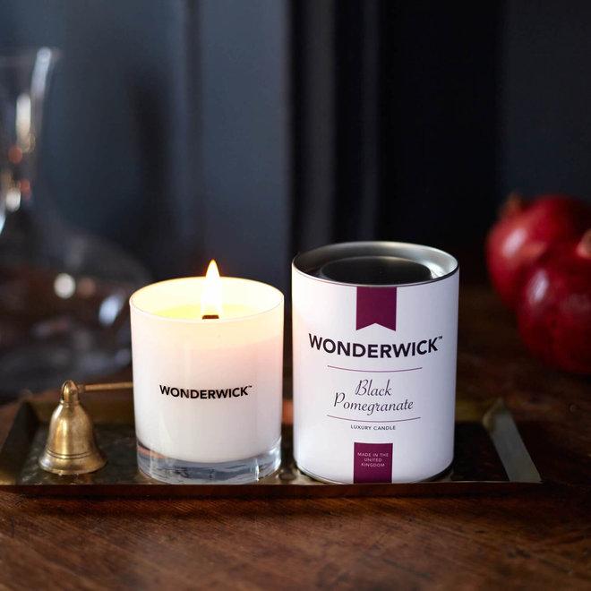 Black Pomegranate candle white