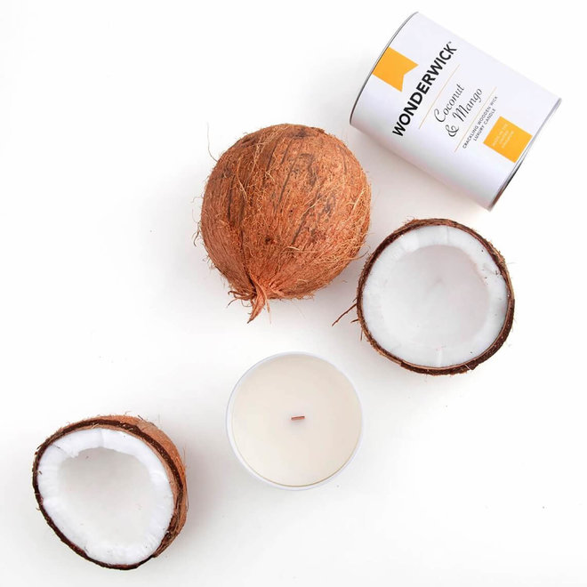 Coconut Mango kaars wit