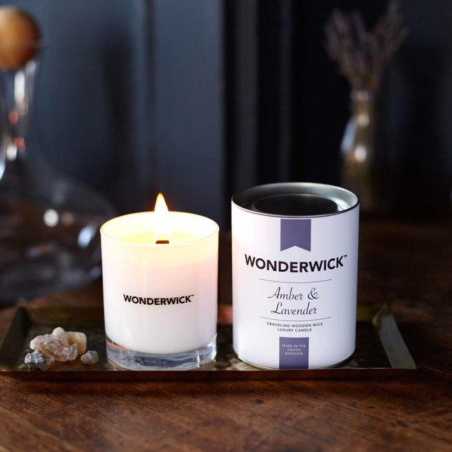Amber Lavender Kerze weiß