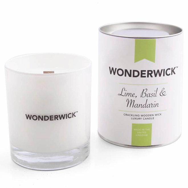 Basil Mandarin candle white