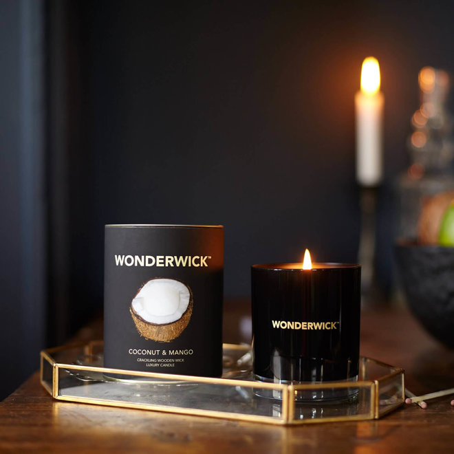 Coconut Mango candle black