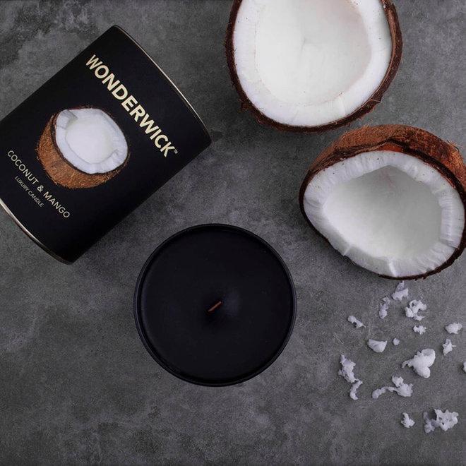 Coconut Mango kaars zwart