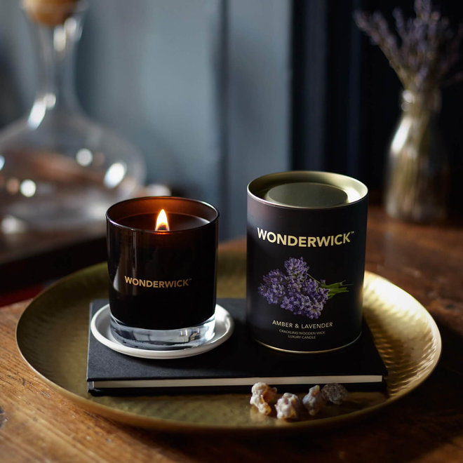 Amber Lavender candle white - Copy