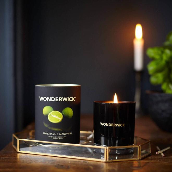 Basil Mandarin candle black