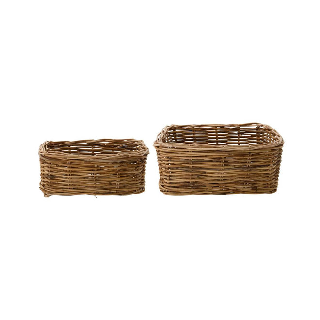basket Baskit natural rectangle set