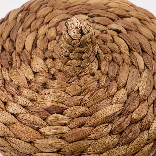baskets with lid Aske natural set