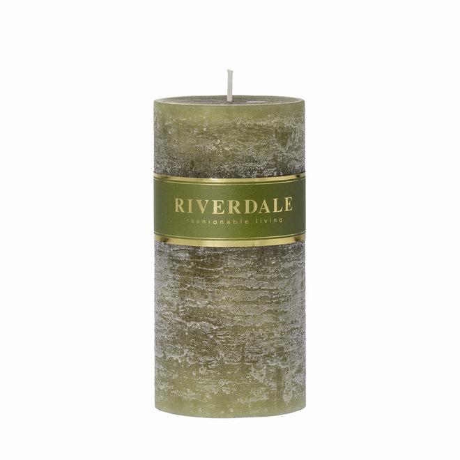 Kerzensäule Salbeigrün 7x14cm