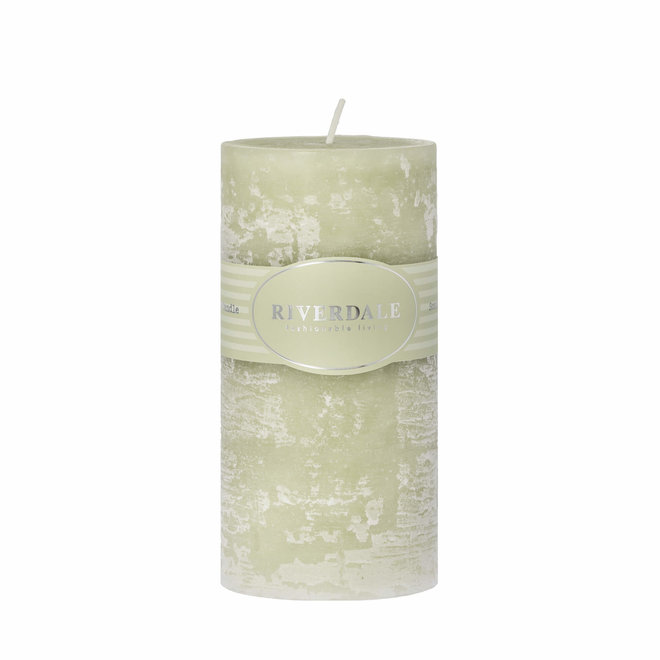 Geurkaars Pillar pistache 7,5x15cm