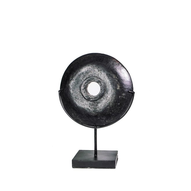 Ornament The Black River Stone on Stand klein
